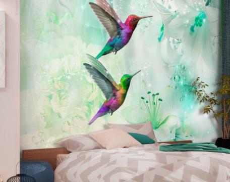 prachtig fotobehang in de slaapkamer